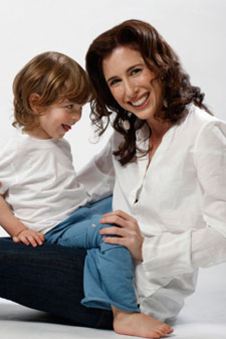Kate Solomon and son